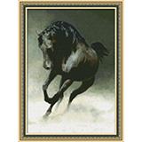 """Набор для вышивания """"Черный конь"""" Юнона 0113 (крестик)"""