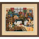 """Набор для вышивания DIMENSIONS """"Кот в швейной комнате"""" DMS-03884 (крестик)"""