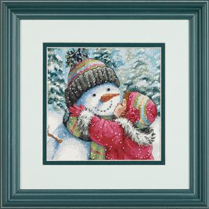 """Набор для вышивания DIMENSIONS """"Поцелуй для снеговика"""" DMS-70-08833 (крестик)"""