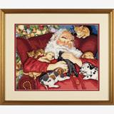 """Набор для вышивания DIMENSIONS """"Дремлющий Дед Мороз"""" DMS-70-08836 (крестик)"""