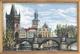 """Прага. Карлов мост"" Риолис 1058 (крестик)"