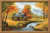 """Осенний пейзаж"" Риолис 1079 (крестик)"