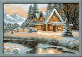 """Зимний пейзаж"" Риолис 1080 (крестик)"