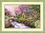 """Весенний пейзаж"" Риолис 1098 (крестик)"