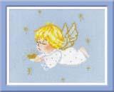 """""""Ангелочек с сердцем"""" Риолис 1135 (крестик)"""