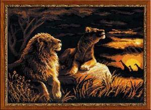 """""""Львы в саванне"""" Риолис 1142 (крестик)"""