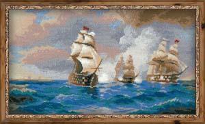 """Бриг ""Меркурий"", атакованный двумя турецкими кораблями"" Риолис 1154 (крестик)"