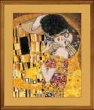 """""""Поцелуй"""" по мотивам картины Г.Климта"""" Риолис 1170 (крестик)"""