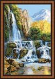 """""""Пейзаж с водопадом"""" Риолис 1194 (крестик)"""