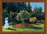 """""Дама в саду"" по мотивам картины К.Моне"" Риолис 1225 (крестик)"