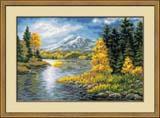 """""""Озеро в горах"""" Риолис 1235 (крестик)"""