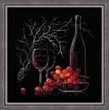 """""""Натюрморт с красным вином"""" Риолис 1239 (крестик)"""
