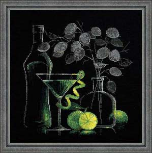 """Натюрморт с мартини"" Риолис 1240 (крестик)"