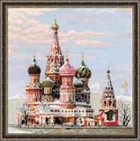 """""""Москва. Собор Василия Блаженного"""" Риолис 1260 (крестик)"""
