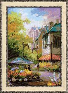 """""""Цветочная улица"""" Риолис 1306 (крестик)"""