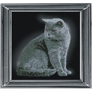 """""""Британская короткошерстная кошка"""" Краса и творчество 21111 (крестик)"""