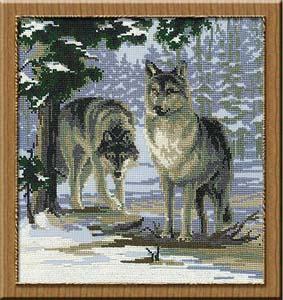 """Набор для вышивания """"Волки"""" Риолис 271 (крестик)"""