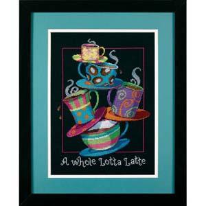 """Набор для вышивания DIMENSIONS """"Полные кружки с кофе-латте"""" DMS-35218 (крестик)"""