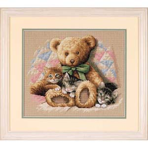 """Набор для вышивания DIMENSIONS """"Мишка и котята"""" DMS-35236 (крестик)"""