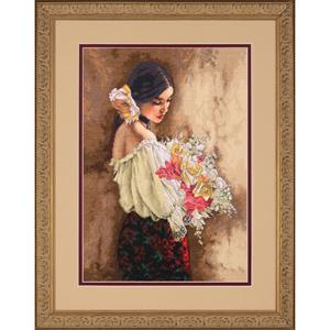 """Набор для вышивания DIMENSIONS """"Девушка с букетом"""" DMS-70-35274 (крестик)"""
