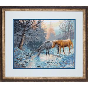 """Набор для вышивания DIMENSIONS """"Морозное утро и лошади"""" DMS-70-35294 (крестик)"""