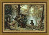 """""""И. Шишкин """"Утро в сосновом лесу"""" Риолис 536 (крестик)"""