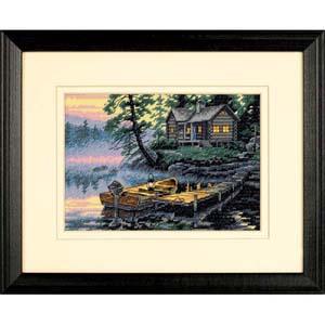 "Набор для вышивания DIMENSIONS  ""Утро на озере"" DMS-65091 (крестик)"