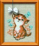 """""""Котёнок с бантиком"""" Риолис 671 (крестик)"""