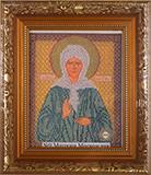 """Рамка со стеклом № 9-Д """" Икона Св.Матроны"""" 20х25 см"""