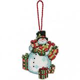 """Набор для вышивания Dimensions """"Украшение Снеговик"""" DMS-70-08896 (крест)"""