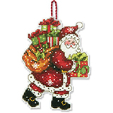"""Набор для вышивания Dimensions """"Украшение Санта с мешком"""" DMS-70-08912 (крест)"""