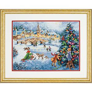 """Набор для вышивания DIMENSIONS """"Праздник зимы"""" DMS-70-08919 (крестик)"""