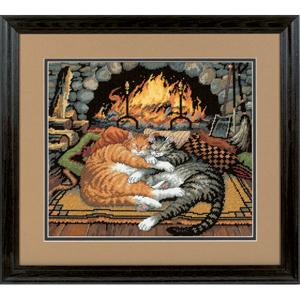 "Набор для вышивания DIMENSIONS ""Кошки у камина"" DMS-72-120007 (гобелен)"