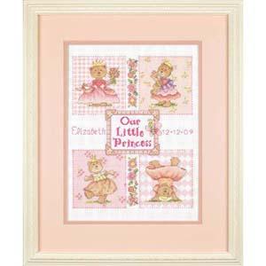 """Набор для вышивания DIMENSIONS """"С днем рождения, маленькая принцесса! (метрика)"""" DMS-73425 (крестик)"""