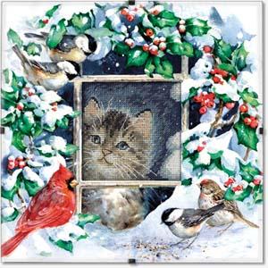 "Набор для вышивания DIMENSIONS ""Зимний котенок"" DMS-73504 (крестик)"