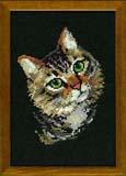 """""""Серая кошка"""" Риолис 766 (крестик)"""