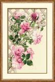 """""""Розовые розы"""" Риолис 898 (крестик)"""