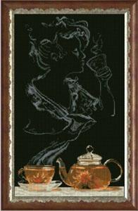 """Набор для вышивания """"Чайная фантазия - она 1"""" Краса и творчество 90513 (крестик)"""