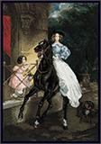 """Набор для вышивания """"Всадница"""" по мотивам картины К. Брюллова Риолис СС-100/044 (крестик)"""