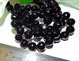 Бусина Агат черный грань 12