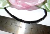 Бусина Агат черный цилиндр грань 12