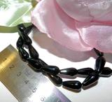 Бусина Агат черный капля грань 16