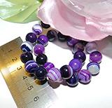 Бусина Агат тонир фиолет полоска глян 10