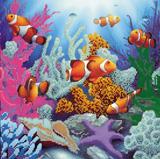 """Схема на холсте """"Морские глубины"""" Абрис Арт AС-148 (ткань для вышивания бисером)"""