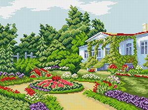"Набор ""Летний сад"" картина-мозаика АЛМАЗНАЯ ЖИВОПИСЬ АЖ.1021"