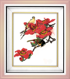 """Набор для вышивания """"Птицы в цветах"""", Вышиваем бисером В17 (бисер)"""
