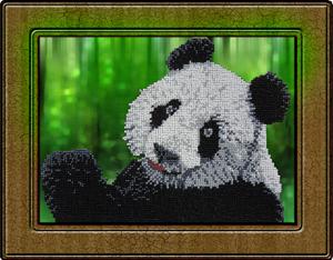 """Набор для вышивания """"Панда"""", Вышиваем бисером В21 (бисер)"""