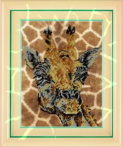 """Набор для вышивания """"Жираф"""", Вышиваем бисером В27 (бисер)"""