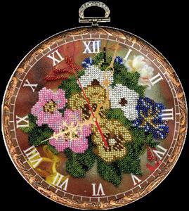 """Набор для вышивания """"Часы Букет"""", Вышиваем бисером В33 (бисер)"""