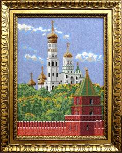 """Набор для вышивания """"Московский Кремль"""", Вышиваем бисером В35 (бисер)"""